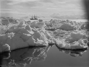 Beautiful broken ice, reflections and Terra Nova. January 7th 1911