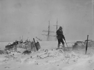 Coaling in a blizzard