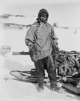 Petty Officer Edgar Evans, with a laden sledge