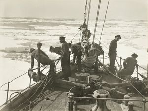 Entering the pack ice, December 9, 1914.