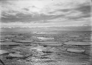 Evening sky effect in the pack ice. December 9th 1910