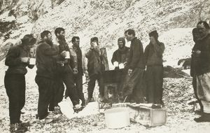 The first meal on Elephant Island
