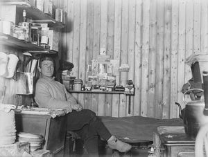 british antarctic expedition 1910 13 terra nova/george murray levick/george percy abbott sitting bunk