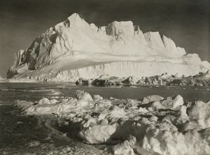 A great glacier berg, 180ft high, which menaced the ship