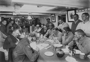 Group in Wardroom of Terra Nova. December 1910