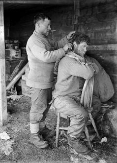 Haircutting, Anton Omelchenko and patrick Keohane. January 29th 1912