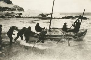 imperial trans antarctic expedition 1914 17/james caird setting south georgia