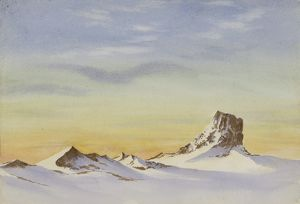 Looking N.W. Castle Rock below Mount Erebus, 3 August 1903, 2pm