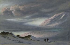 Mount Erebus, 2 April 1911. 6pm