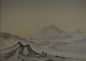 Mount Erebus from Hut Point, March 1911