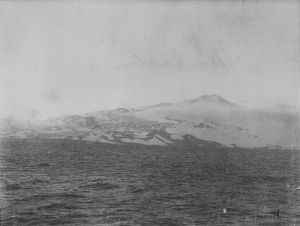 Mount Erebus, from the sea