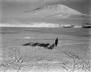 Mount Erebus from the ship at the icefoot. January 1911