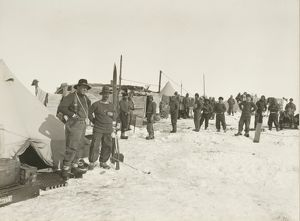 Ocean Camp. Ernest Shackleton and Frank Wild on the left