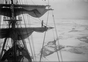 In the pack ice, from the Main-top of the Terra Nova. (T. Gran and Lees). December 12th 1910
