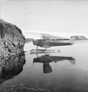 The plane in Penola's anchorage, Stella Creek, 25 February 1936