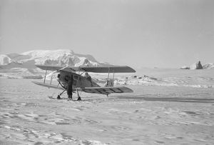 Plane at winter aerodrome, Argentine Islands