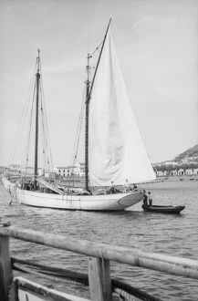 Small schooner in harbour, Azores