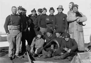 Some of the Terra Nova crew on the fo'castle. December 28th 1910