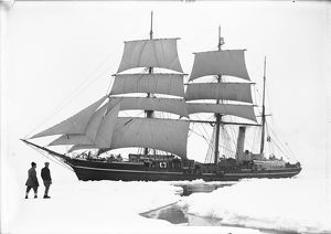 The Terra Nova sailing through the pack ice. December 11th 1910