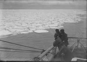 View from the Aft deck house of the Terra Nova, showing pancake ice. December 9th 1910