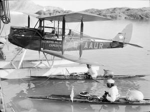 british arctic air route expedition 1930 31/aeroplane kayaks