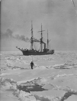 antarctic relief expeditions 1902 04/capt colbeck dr davidson visiting terra nova