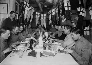 british antarctic expedition 1910 13 terra nova/capt scotts birthday dinner june 6th 1911