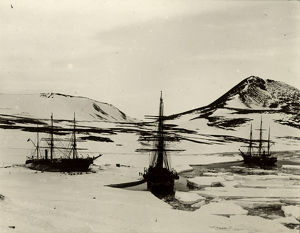 british national antarctic expedition 1901 04/discovery morning terra nova discovery winter