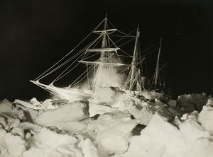 imperial trans antarctic expedition 1914 17/endurance battling high blocks pressure ice