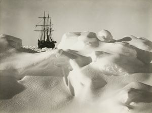 imperial trans antarctic expedition 1914 17/endurance pack ice resembling billowy sea