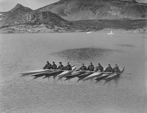 british arctic air route expedition 1930 31/entire expedition kayaks