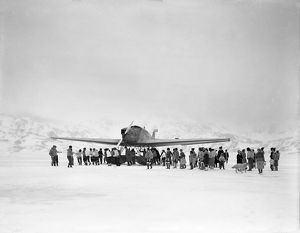 british arctic air route expedition 1930 31/junkers arrival angmagssalik