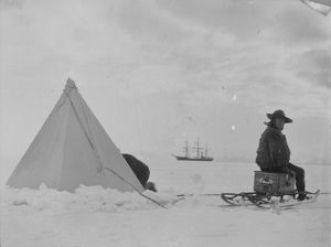 antarctic relief expeditions 1902 04/lt royds ready terra nova distance