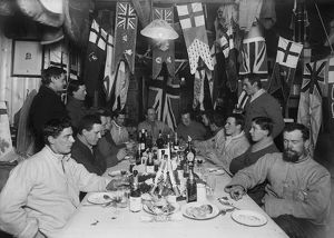 british antarctic expedition 1910 13 terra nova/midwinter day dinner winterquarters hut june