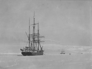 antarctic relief expeditions 1902 04/morning terra nova edge fast ice 18 miles