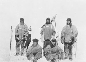british antarctic expedition 1910 13 terra nova/polar party south pole standing oates scott evans