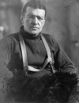 imperial trans antarctic expedition 1914 17/portrait ernest shackleton