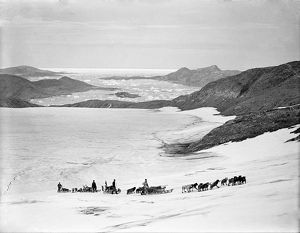 british arctic air route expedition 1930 31/sledges ascending bug bear bank base fjord