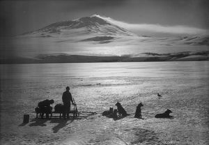 british antarctic expedition 1910 13 terra nova/smoke cloud mount erebus january 15th 1911