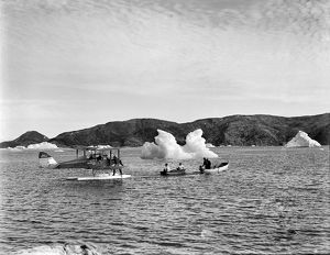 british arctic air route expedition 1930 31/towing moth outboard motor